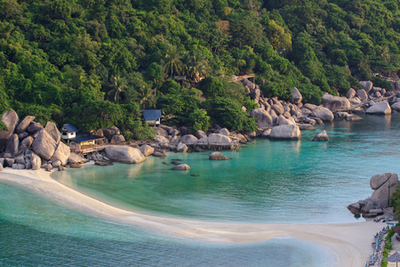 nangyuan: nangyuan island beach thailand in the morning light