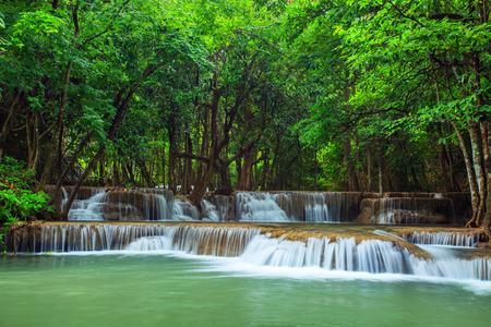 water falls: huay mae kamin water falls national park kanchanaburi province western of thailand