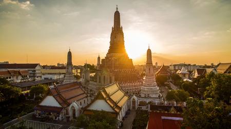 temple thailand: wat arun temple important landmark destination of tourist traveling in bangkok thailand