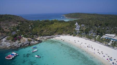 aerial view of racha island harbor andaman sea phuket southern of thailand Imagens - 56634688