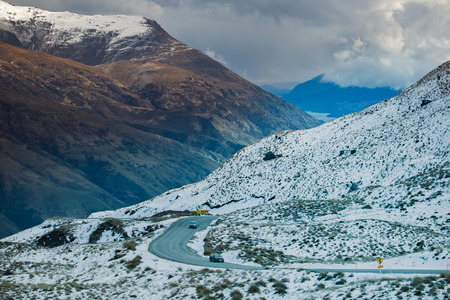 newzealand: beautiful scenic of queenstown mountain route  south island new zeraland