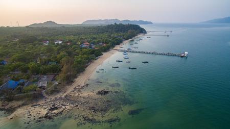 aerial: aerial view of payam island ranong andaman sea southern of thailand