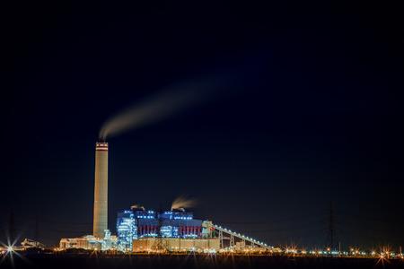 heavy industry: heavy industry plant at night scene