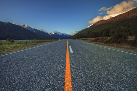 aspiring: highway in aspiring national park new zealand Stock Photo