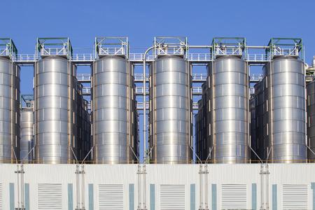 storage tank: oil storage tank in heavy petrochemical industry estate