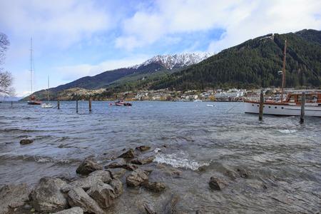 wakatipu: beautiful scenic of lake wakatipu queenstown south island new zealand important traveling destination