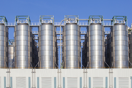 oil storage tank in heavy petrochemical industry estate