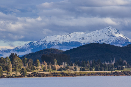 te: beuatiful scenic of lake te anau important traveling destination in south island new zealand