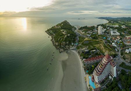 hua: aerial view of khao takeib hua hin prachuapkirikhan southern of thailand important traveling destination Stock Photo