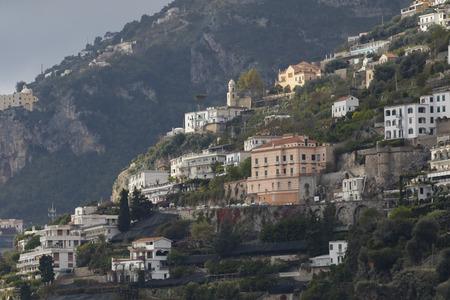 destination scenics: beautiful scenic of capri island important traveling destination in south italy Stock Photo