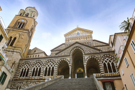 duomo di amalfi important traveling destination in south italy Stock Photo