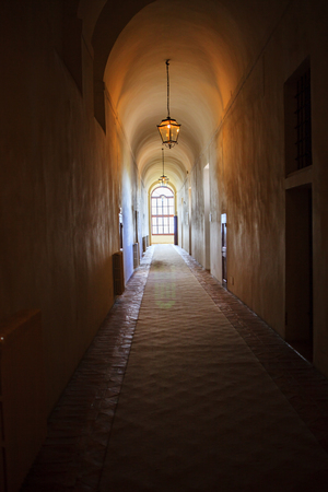 old classic design interior and tunnel of window light perspective