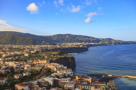 beautiful scenic of sorrento coast line naple harbor south italy Banque d'images