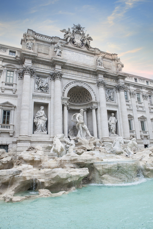 trevi fountain important traveling destination in rome italy Stock Photo