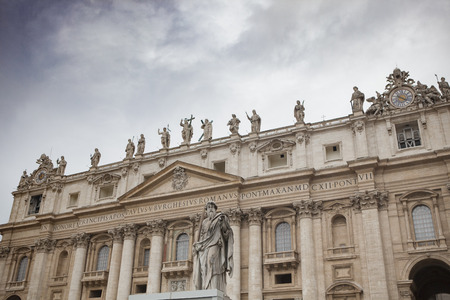 st  peter s square: exterior of St Peter Basilica rome italy important traveling landmark in vatican
