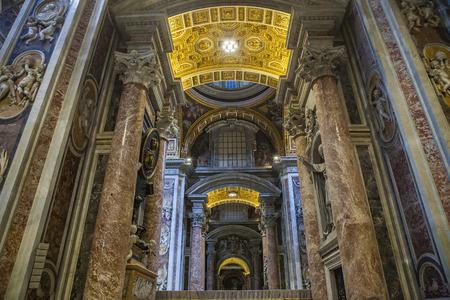 constantin: VATICAN ITALY - NOVEMBER 8 : beautiful  interior of st.peter basilica church vatican city on november 8, 2016 in vatican rome italy Editorial