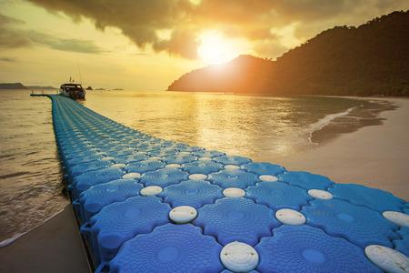 beautiful sun rising sky Nyaung Oo Phee island andaman southern myanmar