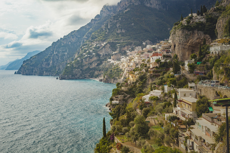 most popular: beautiful scenic of amalfi coast and positano town in south italy most popular traveling destination