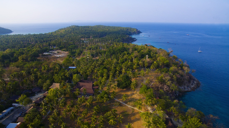 aerial view of racha island and blue andaman sea phuket southern of thailand most popular traveling destination