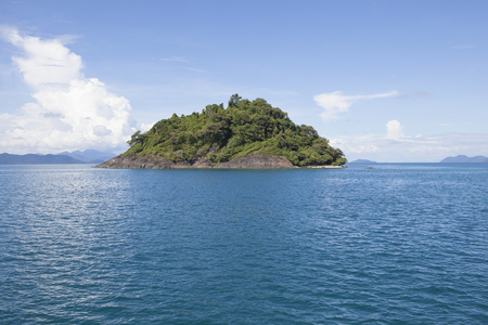 blue sea water and abandon rock island near koh chang trad eastern of thailand
