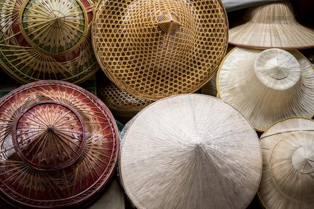hand craft of asian bamboo material craft