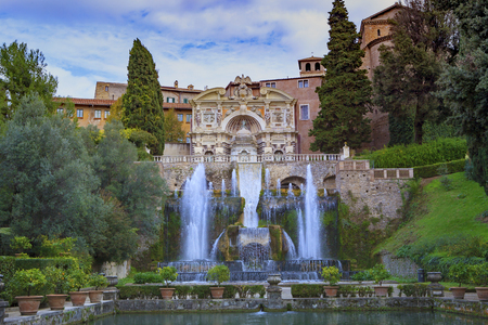 Villa d'Este, Tivoli most popular traveling destination in lazio south italy