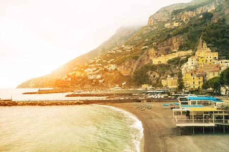 beautiful landscape of amalfi coast mediterranean sea south italy important traveling destination in europe