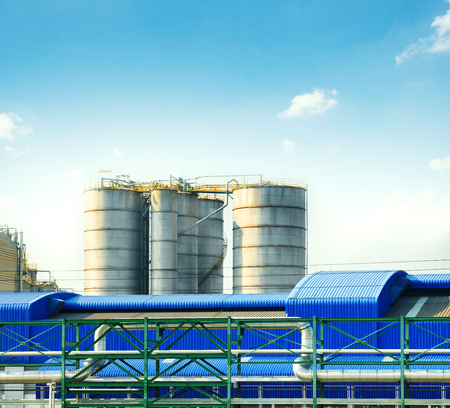 house ware: industry tank storage in heavy industrial estate plant