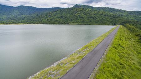 huai preu water reservior ,dam nakorn nayok thailand Banco de Imagens