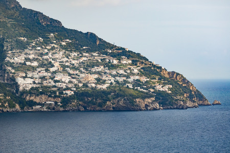 viewpoint of road side from sorrento town to positano mediterranean sea south italy