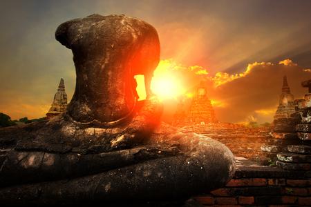 ワット・チャイワタナラム・アユタヤ・タイ 写真素材