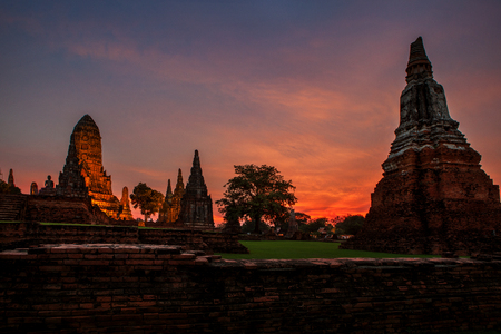 wat chaiwattanaram ayutthaya provincie werelderfgoed van unesco in centraal van Thailand