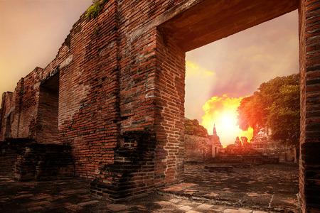 wat ratchaburana temple most popular traveling destination in ayutthaya world heritage site of unesco in thailand Reklamní fotografie