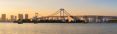 panoraman scene of odaiba harbor tokyo japan most important traveling destination