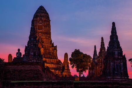 wat chaiwattanaram ayutthaya province Фото со стока
