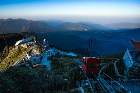fansiipan の最高山ラオス cai 州のベトナムとインドシナで最も人気のある旅行先 写真素材