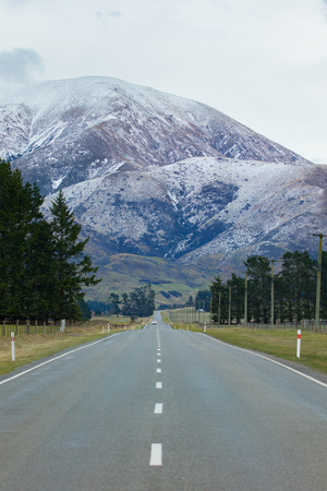 beautiful scenic of mountain in arthur's pass national park most popular travleing destination in southland new zealand