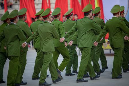 batallón: marching of vietnam soldier