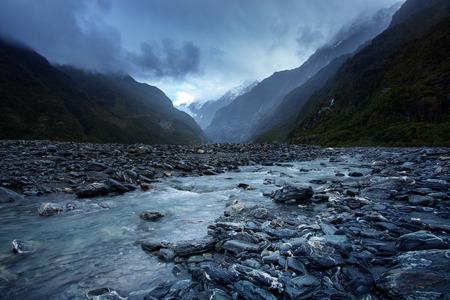 프란츠 josef 빙하 국립 공원 사우스 랜드 뉴질랜드의 가장 인기있는 여행 목적지의 아름다운 경치