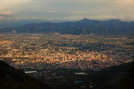 Pompeii en vesuvieuze vulkaan Zuid-Italië