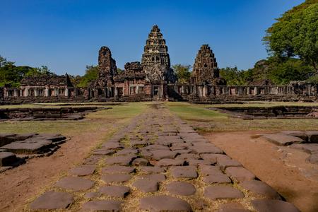 prasat hin phimai important historical traveling destination in nakorn ratchasima north eastern of thailand