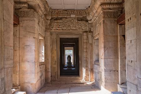 タイ北東部ナコーンラチャシマ県のプラサットヒン・ピマ史跡の内部