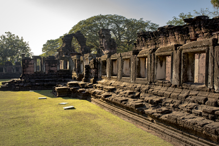 prasat hin phimai, important historical traveling destination in nakorn ratchasima, north eastern of thailand Фото со стока