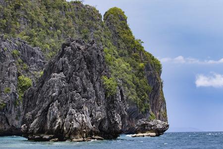 abandoned limestone island in andaman sea myanmar