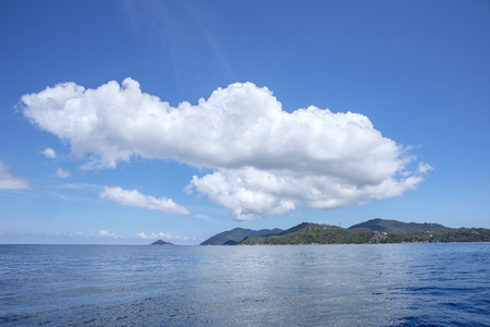 white cloud and blue sky over koh tao thailand