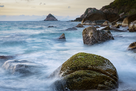 long exposure photography of beautiful sea scape koh tao thailand
