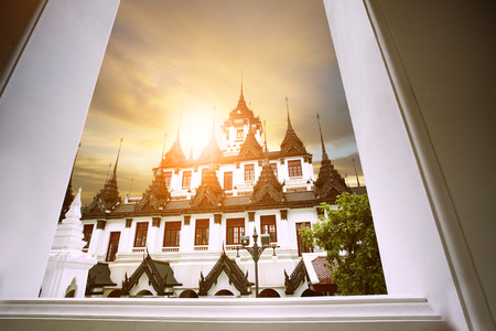 loha prasat wat ratchanadda important traveling destination in bangkok thailand