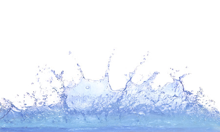 splashing clear water on white background use for refreshment and cool dring water background  Foto de archivo