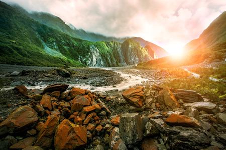 beautiful scenic of fox glacier west coast southland new zealand Stok Fotoğraf