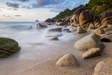 sea scape of koh tao island most popular traveling destination in thailand Stock Photo